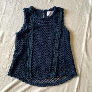 J by J.O.A. Navy top for woman's size XS